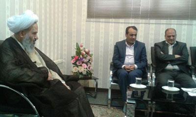 دیدار نماینده ولی فقیه در کاشان با رئیس دانشگاه و هیات مدیره مجمع خیرین سلامت